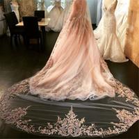 Best Selling Luxury Wedding Veils Four Meters Long Veils Rhi...
