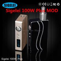 100% Оригинал SIGELEI 100W Плюс MOD Коробка Mod E сигареты Механические Моды Обновленная версия SIGELEI 100W BOX MOD переменного напряжения, пригодный для Aspire