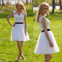 Modest Maid of Honor White Black Ball Gowns Formal Bridesmai...