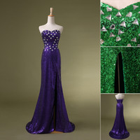 In Stock Sexy Pageant Backless Ball Gowns SD114 Long Purple ...