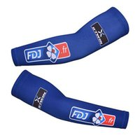 2015 New FDJ blue Cycling Arms Cover Pro Bike Sun Protection...