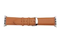 For Apple Watch Iwatch Buckle Watch Belt Genuine Plain Leath...