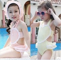 2015 Summer Girls Lace Bikini Separates or One- piece + Hat P...