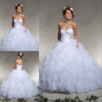 Custom Made Personalised White Quinceanera Dresses Sweethear...