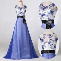 Grace Karin RETRO BLUE Long prom dresses Masquerade EVENING ...