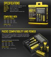 Nitecore D4 Chargeur universel Chargeur 18650 Batteries rechargeables LCD pour Box Mod AAA Li-ion Ni-MH 26650 22650 E Cigarettes Batterie