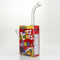 Liquid Sci Glass Roots Loops Cereal Box Rig Vapor Bubbler Wi...