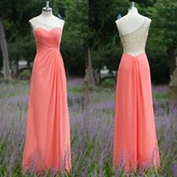 Designer One Shoulder Water Melon Backless 2015 Evening Dres...