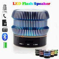 7 Colors LED Flash Light Mini Bluetooth Speaker Portable Ste...