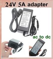 universelle AC / DC adaptateur secteur 100v 240v dc adaptateur chargeur 24v 120w 5a alimentation pour RGB LED bande 5050 DHL bateau libre DY013