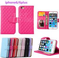 Pour Iphone 6 cas 4.7inch Iphone 6 plus Cas de téléphone 5,5 pouces portefeuille en cuir pochette couvercle du boîtier avec support de carte de crédit Stand pour iPhone 5 5s