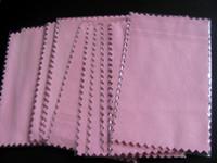 50pcs 10 * 7cm super-NO1 rose Argent Cloth polonaise pour l'argent Bijoux d'or Cleaner Option Bleu Rose Vert couleurs de meilleure qualité