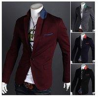 Mens Casual Suits Slim Fit Stylish korean coats Suit Blazer ...