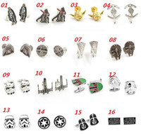 28 Style Star Wars Cufflinks for Men Fashion Cuff Links Cart...