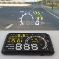 "W02 5. 5"" HUD Head- up Display OBDII Car Projector PC Dri..."