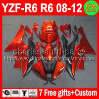 7gifts For YAMAHA Orange black YZFR6 08- 12 YZF600 YZF R6 08 ...