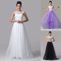 New Design Sleeveless Lace+ Tulle Ball Gown Prom Dresses Long...