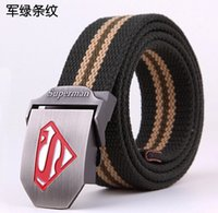 Brand New Canvas Belt for Man Military Superman Belts 21 Col...