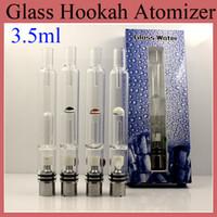 2015 Nouveau verre Hookah atomiseur Huge Dry Vapor Herb Vaporisateur Pen Avec base Céramique Métal Coton base ATB031