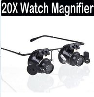 20X Magnification Glasses Metal Frame Glasses Type Watch Rep...