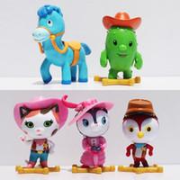 7cm Wild West Sheriff Figures toy Cowboy Sheriff Callie Cat ...