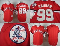 2015 Indians 99 Ricky Vaughn Jersey Men' s Shirts Red 19...
