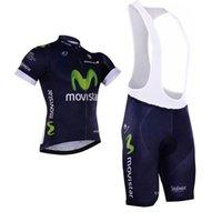 Movistar 2016 Cycling Jerseys Set Short Sleeve Derk Blue Wit...