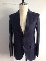 Best Selling Blazer Man Suit Wedding Dresses Peaked Lapel Tw...