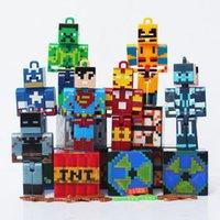 Minecraft Building Block Toys Creeper Cosplay Iron Man Batma...