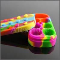 6 + 1 Nonstick cire conteneurs silicone Lego gros caoutchouc bidons de cire de contenants de silicium dab stockage dabber jar bho huile vapeur FDA approuvé DHL