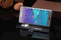 Slim sommeil grain étui en cuir pu pour Samsung Galaxy Note EDGE N9150 téléphone Sac avec le Titulaire de la Carte Nouvelle 2015