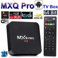 Android 5.1 TV Box MXQ Pro Amlogic S905 Quad Core HD 4K 64bit inteligente Mini PC 1G 8G Wifi 4K H.265 KODI 15,2 Fully Loaded Google Media Player