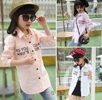2016 Spring Letter Bunny Embroidery Big Girl Long Sleeve Cot...