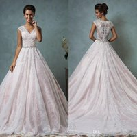 Amelia Sposa 2016 New Collection Vintage Full Lace Wedding D...