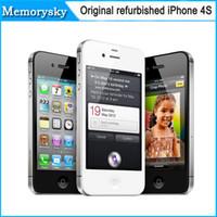 2015 Nuevo iPhone 4s Desbloqueado Original de Apple iPhone 4S iOS 8 Dual-core 32GB ROM de 3.5 pulgadas, Cámara de 8MP WIFI GPS Reformado Teléfono Celular 002834