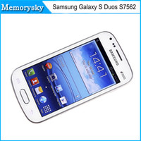 Samsung Galaxy S Duos S7562 reformado teléfono celular original 5MP la cámara del wifi 3G GPS androide 4.0 teléfono inteligente de doble núcleo único sim de DHL 002875