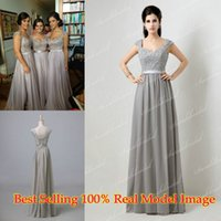2014 In Stock Silver Chiffon Bridesmaid Dresses SD088 Cheap ...