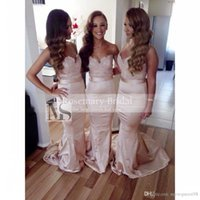 Elegant Sweetheart Lace Bridesmaid Dresses Topped Mermaid Br...