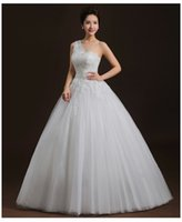 New style One- shoulder Bride Wedding Dress Ball Gown Princes...