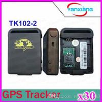 30pcs Quadribande voiture GPS Tracker GPS / GSM TK102-2 Personal Tracker GPS Avec Shock Sensor Fonction alarme + Card Slot Mémoire Flash ZY-DH-04
