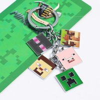 Game Minecraft Key Chian Keychains Metal Figure Toy Key Ring...