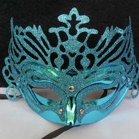 20pcs couleurs mélangées Couronne maks Powder masque d'Halloween masques de plume de partie