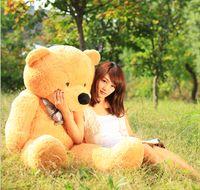 2016 6. 3 FEET TEDDY BEAR STUFFED LIGHT BROWN GIANT JUMBO 72&...
