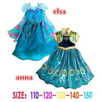 Frozen dresses Frozen Fever Girl Elsa Blue Dress Anna Dresse...