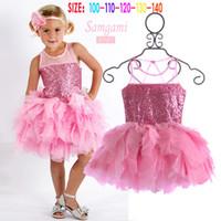 Summer High Quality Girl Children Thin sand Sequined dress +...