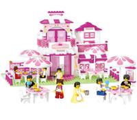 Dream Sluban Fille Restaurant Romantique 306 Pieces Building Blocks Mini Figures Enlighten jouets éducatifs pour enfants cadeau