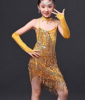 Kids Girls Latin Salsa Dance Dress Children Ballroom Tassels...