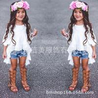 INS Baby Girls Ruffle Runway Dresses Kids Girl Cotton Flare ...