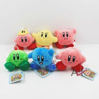 6pcs lot Kirby Plush Keychains Free Shipping Super Mario kir...