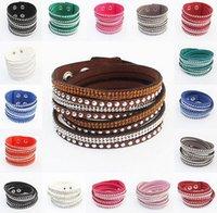 9 Colors New Unisex Multilayer Leather Bracelet Christmas Gi...